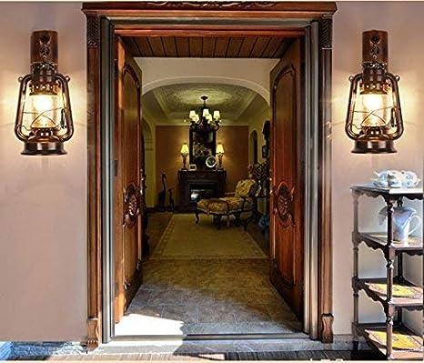 noulerd Auto-instalación Lámpara de Pared Retro Barra de bambú, Tienda Decorar Escalera Salón Lámpara Decorativa Lámparas de Estudio Lámparas Lámpara Engeerg Té Creativo Lámparas de bambú E27 Moda,22: Amazon.es: Deportes y aire