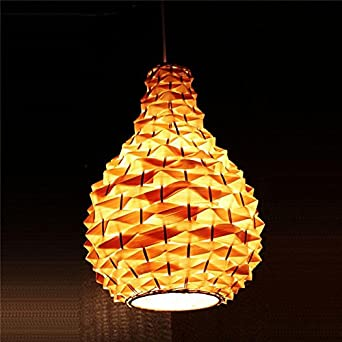 YanCui Bamboo Pineapple Chandelier Creative Dining Room Living Cafe Library Lamp 4553cm