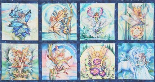fabric from the USA with fairies, Design: Jody Bergsma, Licensed by MGL (per 0.5 yard -