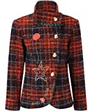 Joe Browns Women's Fab and Funky Check Jacket, Red Multi , (6)