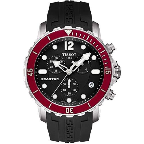 Tissot Men's T0664171705701 Seastar Analog Display Swiss Quartz Black Watch (Tissot Swiss)