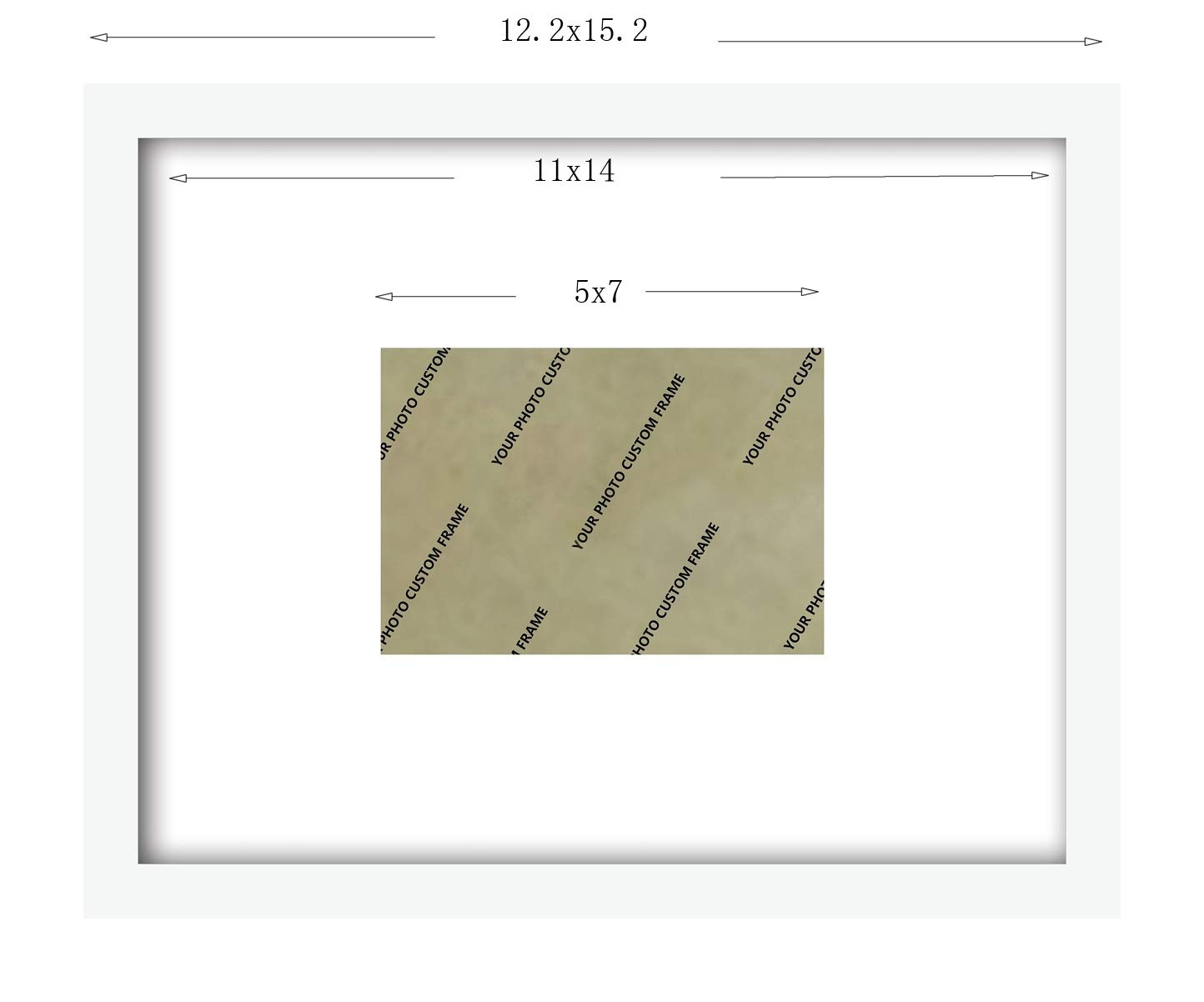 Amazon.de: xufly 11 x 14 Echtglas Holz Rahmen weiß 3 Art Matte ...
