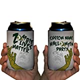 Custom Halloween Party Can Cooler- Zombie Lives Matter Can Cooler (48)