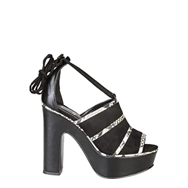 ANA LUBLIN Women s Designer Sandals OTACILIA - Black - 36 5d0dbd5c2f