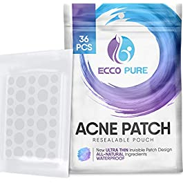 Acne Patch – Hydrocolloid Pimple Patch For Face Zits – Blemish Spot Skin Care Treatment – Invisible Dots, Waterproof, Absorbs Pus, Avoids Scar, Reduces Pain & Redness of Acne (36 Patches)