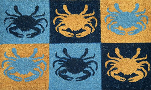 Geo-Crafts-G385-PVC-Six-Crabs-Entry-Way-Doormat