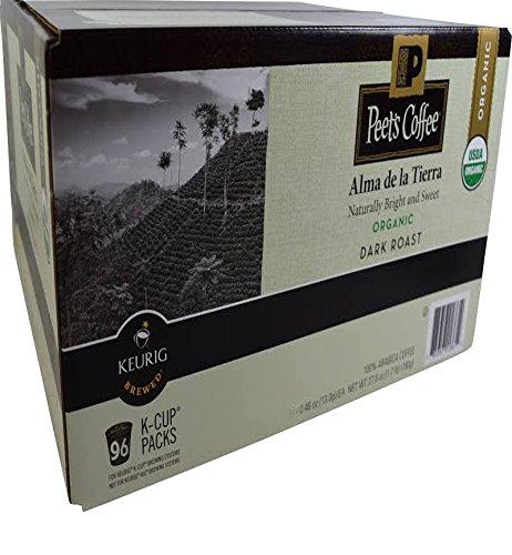 Peet's Coffee Organic Alma de la Tierra Dark Roast K-Cup Packs, 96 Count