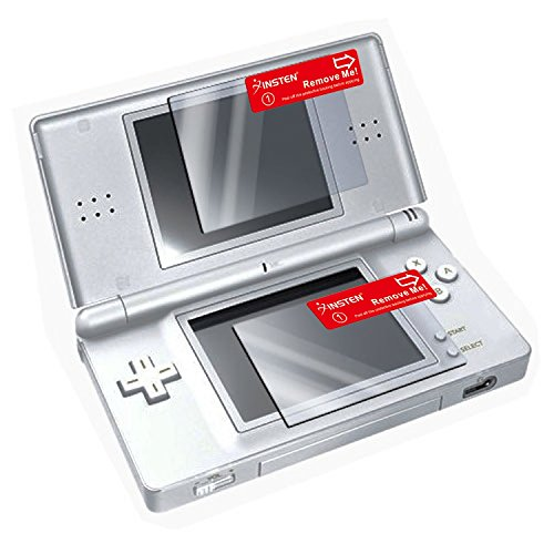 Insten Top LCD, and Bottom Touchscreen LCD Screen Protector Compatible With Nintendo DS Lite [2 LCD Kit] with Lint-free cleansing Cloth