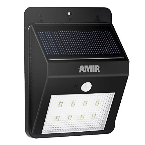 Solar Lights  Amir Solar Energy Powered Outdoor Bright Light  Waterproof   Motion Sensor Detector Activated  Dusk To Dawn Dark Sensing Auto On Off  Led Light For Patio Deck Yard Home Driveway Stairs