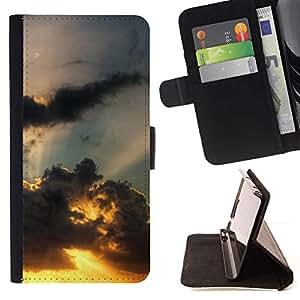 For LG Nexus 5 D820 D821 Case , Sunset Beautiful Nature 110- la tarjeta de Crédito Slots PU Funda de cuero Monedero caso cubierta de piel