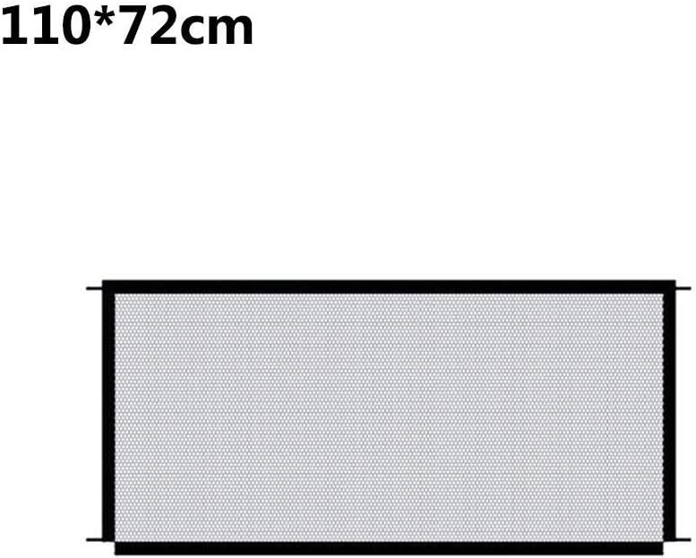 Red Plegable Port/átil Puerta De Seguridad para Mascotas Valla para Mascotas Red De Aislamiento De Seguridad Puerta De Seguridad De Gasa Aislada Port/átil 110/×72cm Kapokilly Puerta M/ágica para Perros
