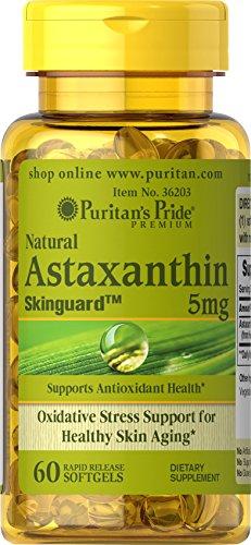 Puritan's Pride Natural Astaxanthin 5 mg-60 Softgels