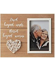 The Aus Home Memorial Picture Frame - Memorial Gifts - Sympathy Gifts Large Picture Frames - Loss of Father Gift - Loss of a Mother Sympathy Gifts (Loved Beyond Words)