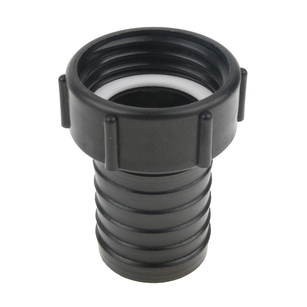 perfk IBC Adapter 2' Coarse Thread Water Tank Garden Hose Adapter Fittings Tool - Black, 50mm