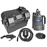 Superior Pump 92900 Powered Battery Back up Sump Pump with Tethered Switch, 12V