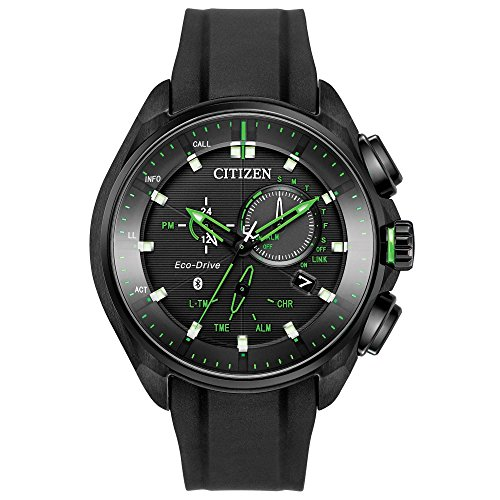Men's Citizen Eco-Drive Proximity Black Polyurethane Smartwatch BZ1028-04E