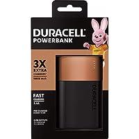 Duracell Pila Portátil Recargable de Carga rápida de 10050 mAh para teléfonos Inteligentes, Color Negro y Cobre