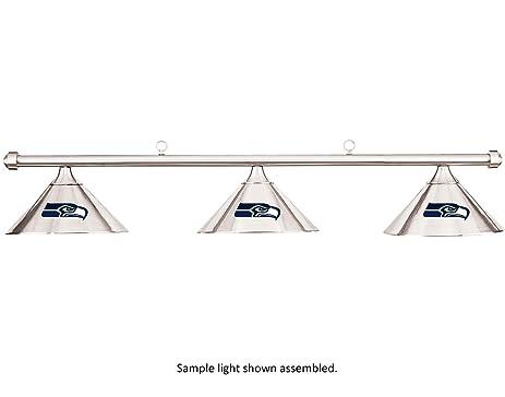 NFL Seattle Seahawks Chrome Shade U0026 Chrome Bar Billiard Pool Table Light