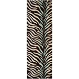 Surya Cosmopolitan COS-8865 Contemporary Hand Tufted 100% Polyester Hot Cocoa 2'6'' x 8' Animal Runner