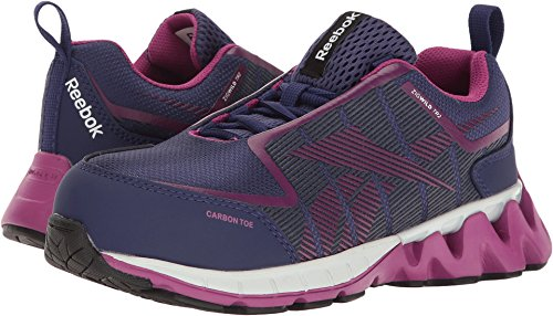 Reebok ZigWild TR2 Work RB305 Industrial and Construction Shoe, Purple/Pink, 9.5 M (Toe Electrostatic Dissipating Slip)
