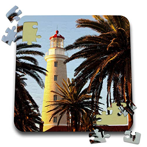 (3dRose Danita Delimont - Uruguay - East Point Lighthouse, Punta Del Este, Uruguay, South America - 10x10 Inch Puzzle (pzl_314401_2))