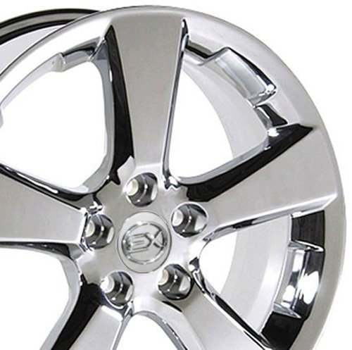 Lexus Rims Wheels - OE Wheels 18 Inch Fits Lexus ES GS HS IS LS RX SC Toyota Avalon Camry Matrix Rav4 Sienna RX 330 Style LX03 Chrome 18x7 Rim Hollander 74171