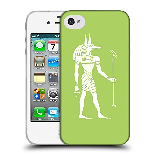 GoGoMobile Coque de Protection TPU Silicone Case pour // Q09140628 Anubis egypt 2 poule // Apple iPhone 4 4S 4G