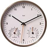 Bai Designer Weather Station Wall Clock, White