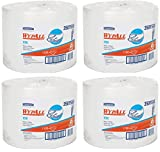 Wypall X50 Disposable Wipers (35015), Strong for Extended Use, Jumbo Roll, White, 1,100 Sheets / Roll (4)
