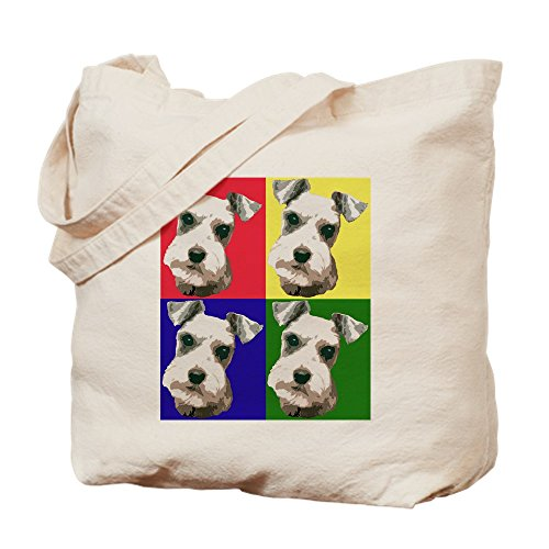 Shopping Bag Color CafePress Canvas Block Cloth Schnauzer Natural Tote Bag 1xwZOq
