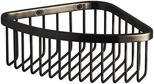 Kohler K-1896 Medium Corner Shower Basket, Oil Rubbed Bronze (2BZ) by Kohler ()