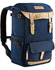 """Dslr Backpack, K&F Concept Waterproof Compact Camera Backpack Dslr Camera Bag Rucsack for 15.6"""" Laptop with Inner Separate Bag Case for Sony Olympus Canon Nikon Cameras"""