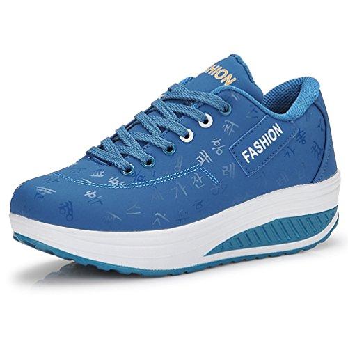 Deporte Piel Otra de JRenok Zapatillas de Mujer Azul EqOORz