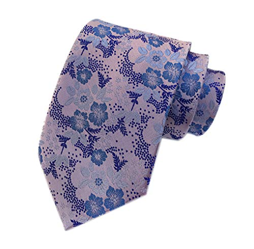 (Secdtie Men Big Boys Pink Purple Blue Suit Ties Novelty Soft Slim Neckties Gift )