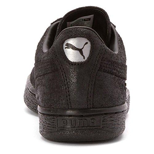 Puma Kvinners Semsket Klassisk Matt & Shine Wns Sneaker Svart