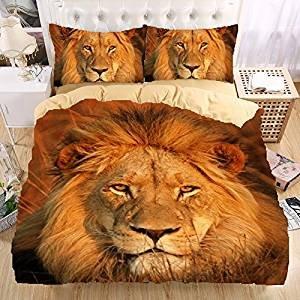 Der König Der Löwen 3d Bettwäsche Set Print Bettbezug Set