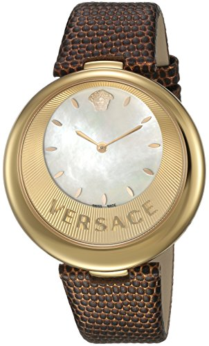 Versace Women's 'PERPETUELLE' Swiss Quartz Stainless Steel and Leather Casual Watch, Color:Gold-Toned (Model: VAQ030016)