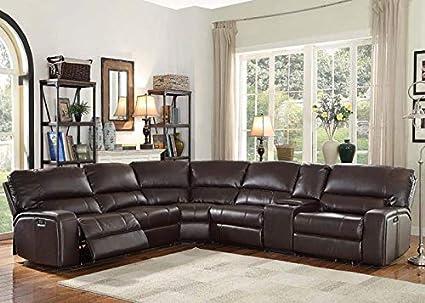 Amazon.com: Espresso Motion Sectional Sofa Living Room ...