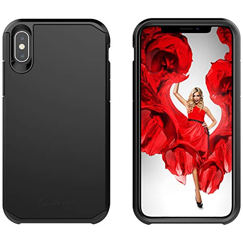 Cover Dual - Luvvitt iPhone Xs Max Case Ultra Armor Cover with Dual Layer Heavy Duty Shockproof Protection for iPhone Xs Max (2018) 6.5 inch Screen - Black