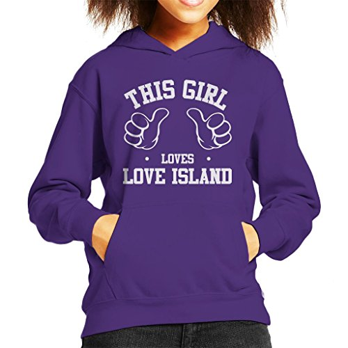 This Girl Loves Love Island Kid's Hooded Sweatshirt by Coto7