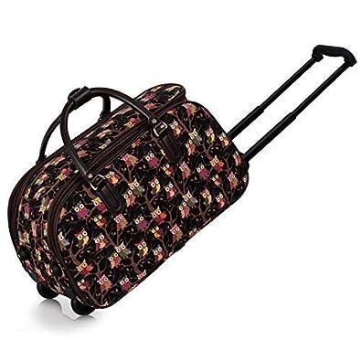 Ladies Travel Bags Holdall Womens Hand Luggage Owl Print Bag ...