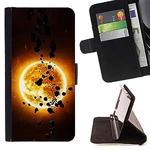 - The Sun & Asteroids/ Personalizada del estilo del dise???¡¯???¡Ào de la PU Caso de encargo del cuero del tir???¡¯????n del s - Cao - For Samsung Gal