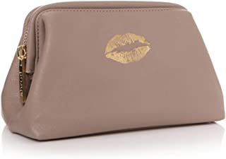 Holy Chic Glamour Taupe Trousse de toilette à maquillage avec Doré Rouge à lèvres Kiss Junction Eighteen Limited