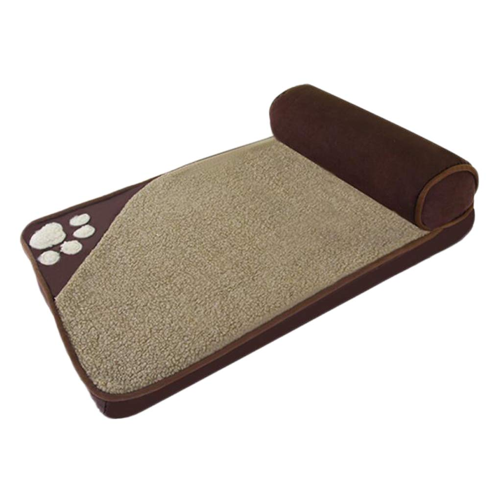 BROWN S BROWN S Pet nest Kennel Perro de gato Linda cama Extra Grande para mascotas, Nido de mascotas Dog Bed pet nest Supplies Dog mat (color   Brown, Size   S)