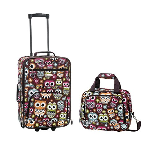 Rockland Luggage 2 Piece Set, Owl, One Size -