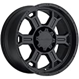 Vision Raptor 17 Matte Black Wheel / Rim 8x170 with a -10mm Offset and a 126 Hub Bore. Partnumber 372-7970MB-10