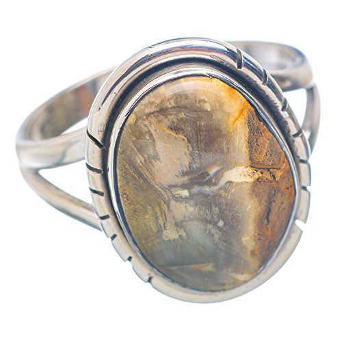 Ana Silver Co Rare Petrified Wood 925 Sterling Silver Ring Size 10