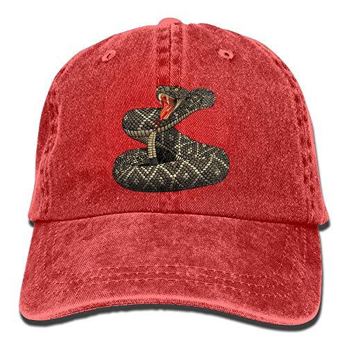 Arsmt Terrible Rattlesnake Denim Hat Adjustable Mens Plain Baseball Hat (Rattlesnake Hat)