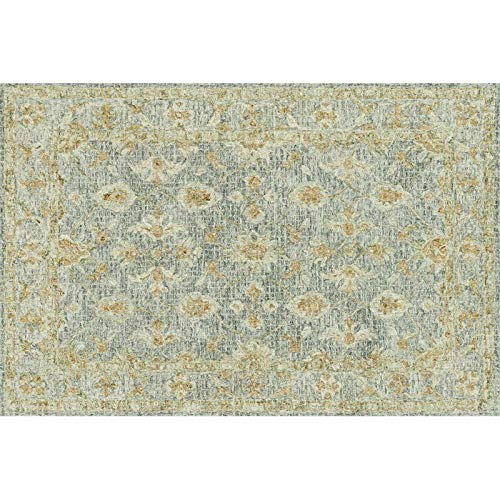 Julian 7'9'' x 9'9'' Hand Hooked Wool Rug in Spa Area Rug Dining Room Home Bedroom Carpet Floor Mat