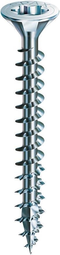 Tornillo universal 4,5 x 20 mm galvanizado claro 0201010450203 rosca completa WIROX A9J 4CUT SPAX  T-STAR plus 200 Unidades Cabeza redonda